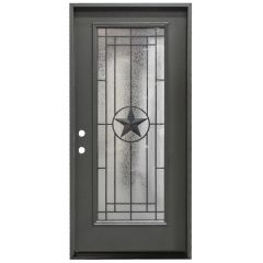 "36"" Texas Star Full View Exterior Fiberglass Door - Graphite- Right Hand Inswing"
