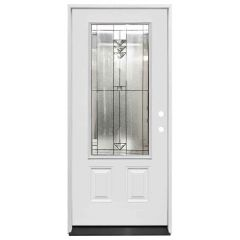 "36"" Martini 3/4 View Exterior Fiberglass Door - White - Left Hand Inswing"