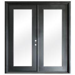 Terazza Black Wrought Iron Retrofit Patio Doors - Left Swing 6068