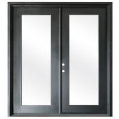 Terazza Black Wrought Iron Retrofit Patio Doors - Right Swing 6068