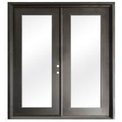 Terazza Bronze Wrought Iron Retrofit Patio Doors - Left Swing 6068
