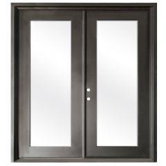 Terazza Bronze Wrought Iron Retrofit Patio Doors - Right Swing 6068
