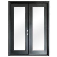Terazza Black Wrought Iron Retrofit Patio Doors - Left Swing 6080
