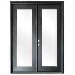 Terazza Black Wrought Iron Retrofit Patio Doors - Right Swing 6080