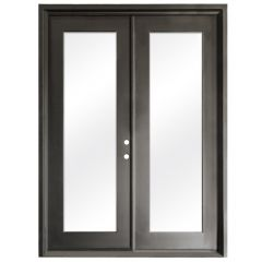 Terazza Bronze Wrought Iron Retrofit Patio Doors - Left Swing 6080