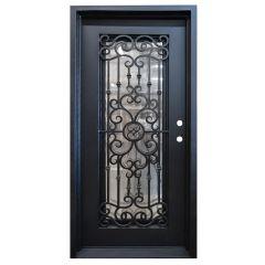 Marbella Wrought Iron Entry Door Left Swing 3068
