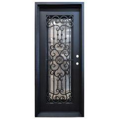 Marbella Wrought Iron Entry Door Left Swing 3080