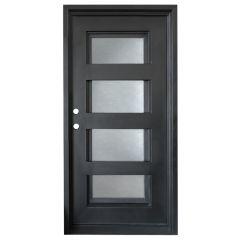 Metro Wrought Iron Entry Door Right Swing 3068