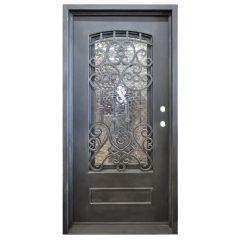Montilla Wrought Iron Entry Door Left Swing 3068
