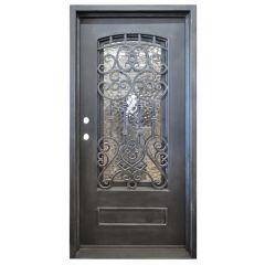Montilla Wrought Iron Entry Door Right Swing 3068