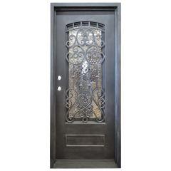 Montilla Wrought Iron Entry Door Right Swing 3080