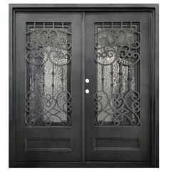 Montilla Double Wrought Iron Entry Door Right Swing 6068