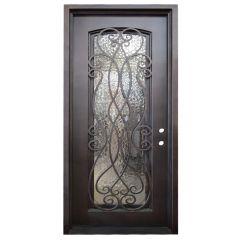 Palencia Wrought Iron Entry Door Left Swing 3068