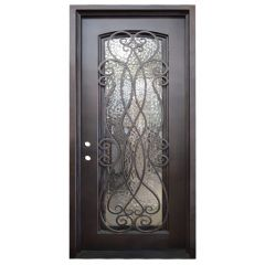 Palencia Wrought Iron Entry Door Right Swing 3068