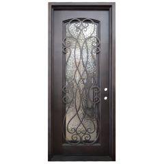 Palencia Wrought Iron Entry Door Left Swing 3080