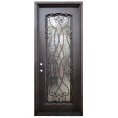Palencia Wrought Iron Entry Door Right Swing 3080