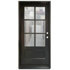TCM200 6-Lite Exterior Wood Door - Clear Glass - Sable - Left Hand Inswing