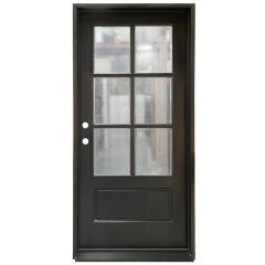 TCM200 6-Lite Exterior Wood Door - Clear Glass - Sable - Right Hand Inswing