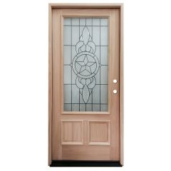 TCM300 Texas Star Mahogany Exterior Wood Door - Left Hand Inswing