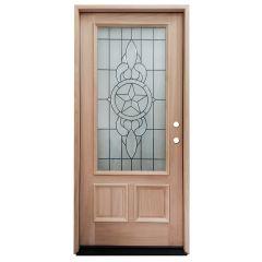 TCM300 Texas Star Mahogany Exterior Wood Door - Left Hand Inswing