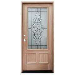 TCM300 Texas Star Mahogany Exterior Wood Door - Right Hand Inswing