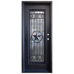Texas Star Wrought Iron Entry Door Left Swing 3080