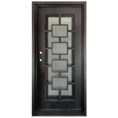 Zamora Wrought Iron Entry Door Right Swing 3068