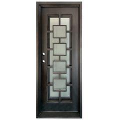 Zamora Wrought Iron Entry Door Right Swing 3080