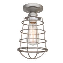 Ajax 1-Light Ceiling Light - Galvanized