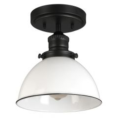 Savannah 1-Light Matte Black Semi-Flush Ceiling Mount