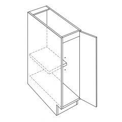 "Full Height 9"" Avalon White Kitchen Cabinet"