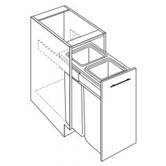 "Waste Basket Base Cabinet 18"" Avalon White Kitchen Cabinet"