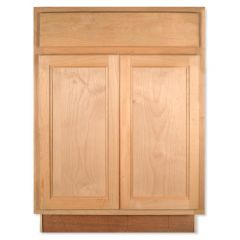 "Base 24"" Unfinished Alder Kitchen Cabinet"