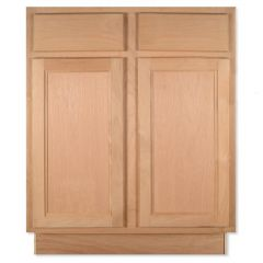 "Base 27"" Unfinished Alder Kitchen Cabinet"