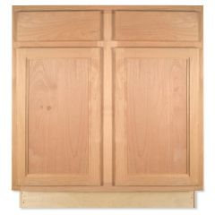 "Base 30"" Unfinished Alder Kitchen Cabinet"
