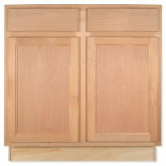 "Base 33"" Unfinished Alder Kitchen Cabinet"