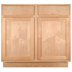 "Base 36"" Unfinished Alder Kitchen Cabinet"