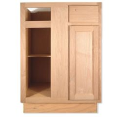 "Base 39""/42"" Unfinished Alder Blind Corner Kitchen Cabinet"