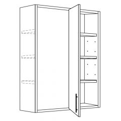 "Blind Corner Wall 36""/39"" x 42"" Broadway Luster Kitchen Cabinet"