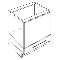"Microwave Base 30"" Avalon White Kitchen Cabinet"