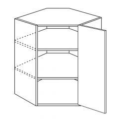"Diagonal Wall 24"" x 30"" Avalon White Kitchen Cabinet"