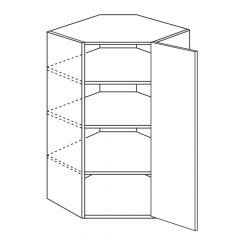 "Diagonal Wall 24"" x 42"" Avalon White Kitchen Cabinet"