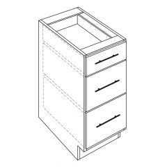 "3 Drawer Base 18"" Avalon White Kitchen Cabinet"
