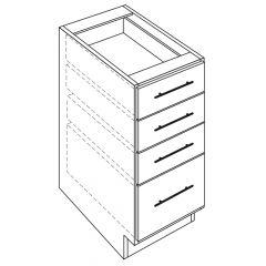 "4 Drawer Base 21"" Avalon White Kitchen Cabinet"