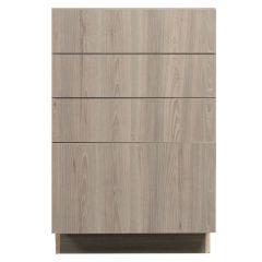 "4 Drawer Base 21"" Madison Ash Kitchen Cabinet"