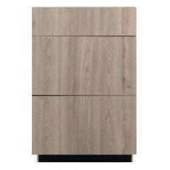 "3 Drawer Base 24"" Madison Ash Kitchen Cabinet"