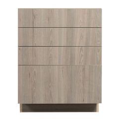"3 Drawer Base 30"" Madison Ash Kitchen Cabinet"