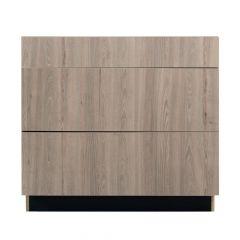 "3 Drawer Base 36"" Madison Ash Kitchen Cabinet"
