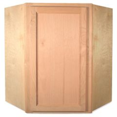 "Diagonal Wall 24"" x 30"" Unfinished Alder Kitchen Cabinet"