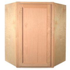 "Diagonal Wall 24"" x 42"" Unfinished Alder Kitchen Cabinet"